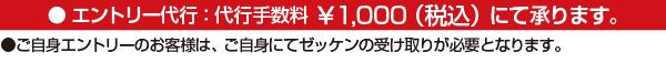 エントリー代行:代行手数料1000円(税込)にて承ります。