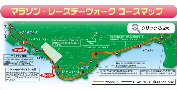 マラソン・レースデーウォークコースマップ